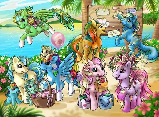 Lovely Pony-Filled Island in Pony Island