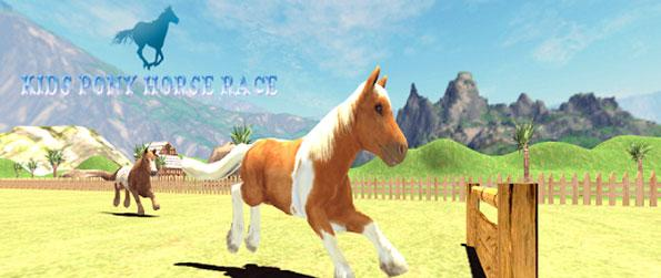 Pony Horse Kids Race 3D - Take your favorite pony out on the race track in Pony Horse Kids Race 3D.