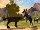 Attacking a wolf in Horse Family Simulator