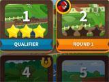 Solitaire Dash level selection menu