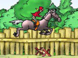 Horse jumping in My Pony Stables