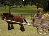 3D Horse Cart Racing picking a horse