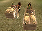 3D Horse Cart Racing gameplay