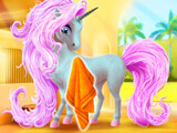 My Fairytale Unicorn: Swiping your unicorn down