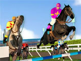 Horse Racing Championship 2018 jumping over obstacles