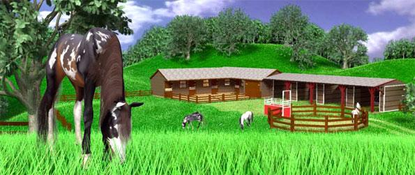 A Virtual Horse - Enjoy a stunning horse game where you can manage every aspect from grooming to growing food.