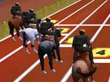 Horse Racing 3D Start Line