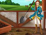 Cleaning the Stable in Princess Horse Club