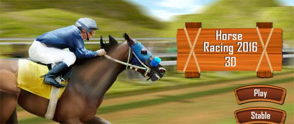 Horse Racing 2016 3D - Unlock the most sophisticated breeds of horses and race them on curvy tracks avoiding incoming obstacles.