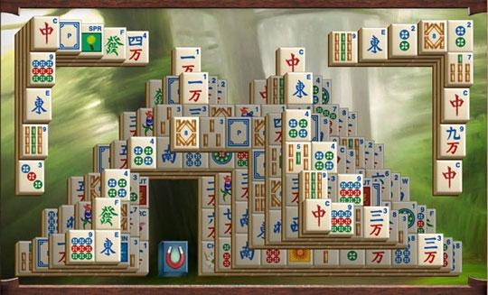 Mahjong Escape Ancient China Fortress Pattern