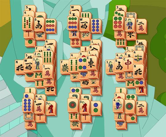 The Hills Pattern in Mahjong Trails