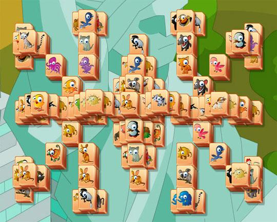Cute Bird Tiles in Mahjong Trails
