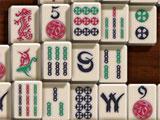 Mahjong Red Dragon Tile