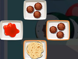 Cooking Mahjong: Making spaghetti meatball