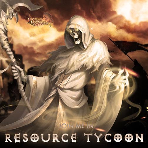 Get Skeleton Devotee from Resource Tycoon in League of Angels