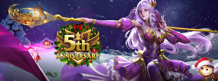 League of Angels Celebrates Fifth Anniversary