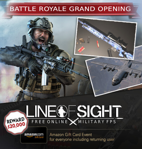 Line of Sight is Launching An Amazon Gift Card Giveaway Event in Celebration of Its New BR Mode