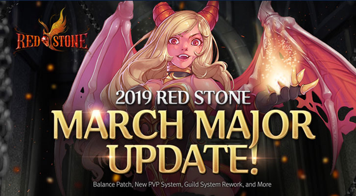 MMORPG Red Stone Online Releases Its March Major Update