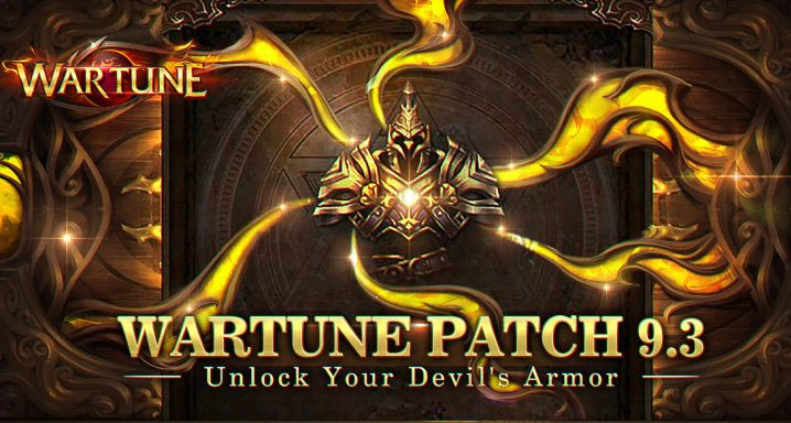 Wartune Patch 9.3 is releasing a new armor - Devil's Armor!