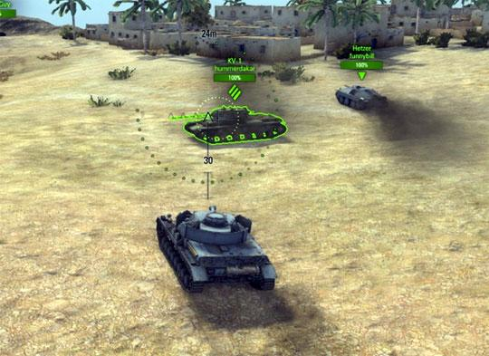 Gameplay for World of Tanks