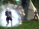 Pathfinder Online fighting a goblin