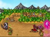 Fighting enemies in Endless Frontier Saga