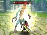 Fighting a boss monster in Dragon Nest M