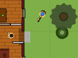 Engaging an enemy inside a building in Surviv.io