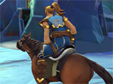 Realm Royale riding atop a mount