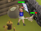 Old School Runescape: Fighting chickens