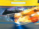 Beys in battle in Beyblade Burst Rivals