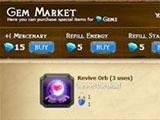 Heroes of the Realm: Gem market