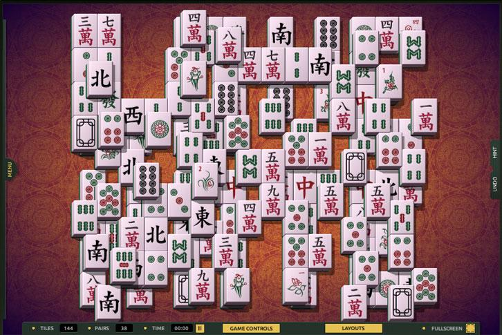 Hidden Words layout in TheMahjong.com