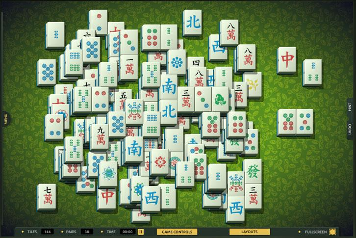Totally Random-Made layout in TheMahjong.com
