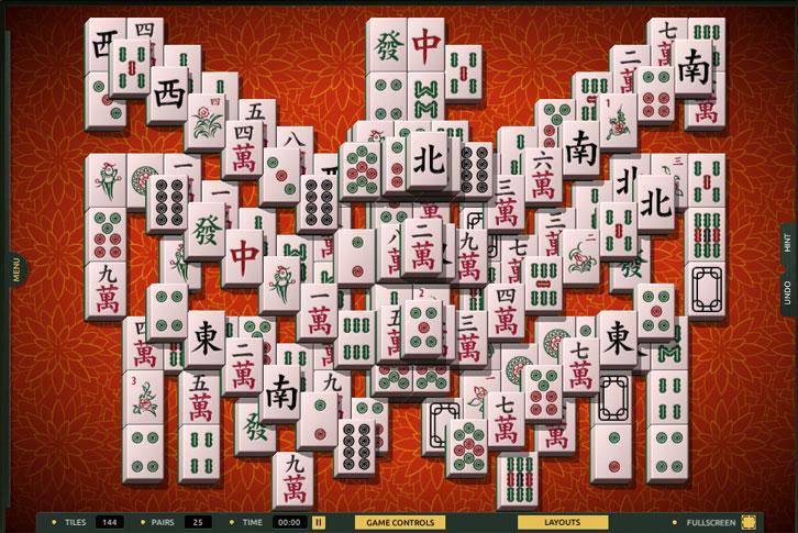Phoenix layout in TheMahjong.com
