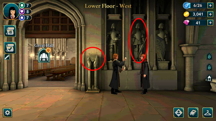 Free energy points in the Lower Floor - West