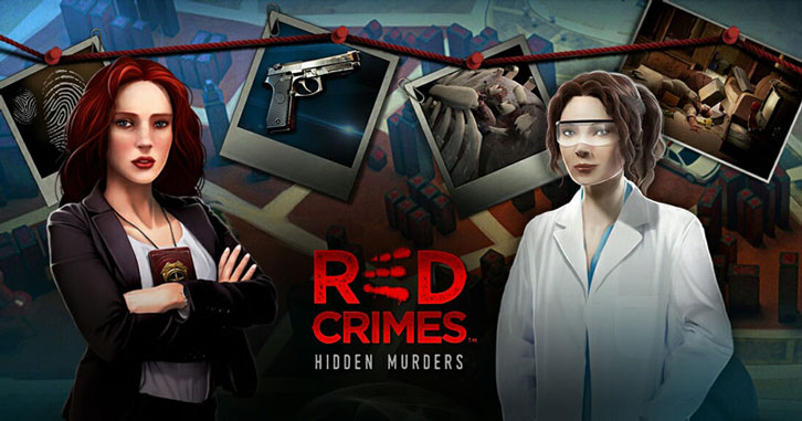 Search for Evidence and Solve Crimes in Red Crimes: Hidden Murders