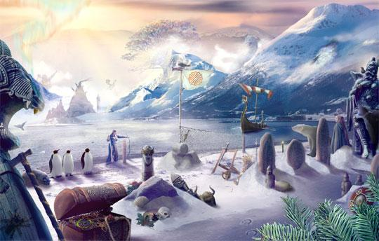 The Frozen North of Voyage to Fantasy