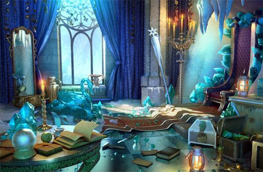 Spectacular Ice Castle in Rooms of Memory