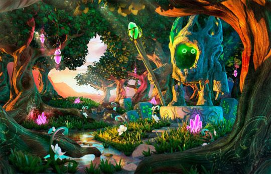 The Magic Forest in Rooms of Memory