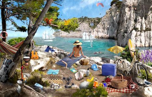Private Beach Scene