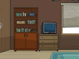Find The Differences - The Detective Office Shelf and TV