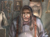 The shopkeeper in Dreadful Tales: The Space Between Collector's Edition