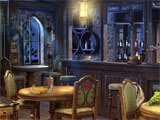 Hidden Objects: Twilight Town silhouette based hidden object scene