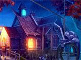 Witches' Legacy: Awakening Darkness outside a spooky house