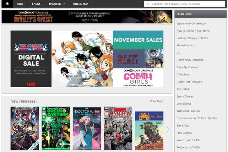 What is Comixology? Article - Online Anime Games