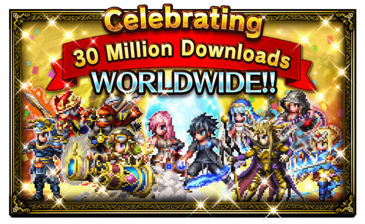 Final Fantasy Brave Exvius Celebrates 30 Million Downloads Worldwide!