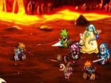 Fighting in a dungeon in Brave Frontier