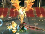 Fighting a boss in Final Fantasy Awakening