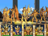 A team of overpowered units in Saint Seiya Cosmo Fantasy